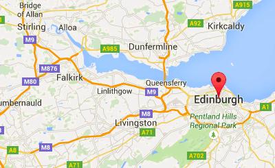 edinburgh on google maps