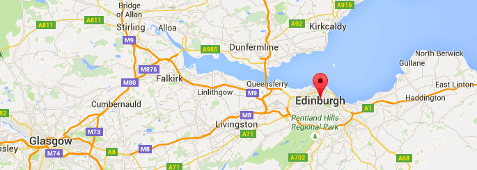 edinburgh on google maps