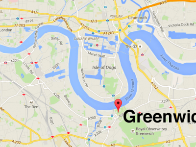 greenwich on google maps