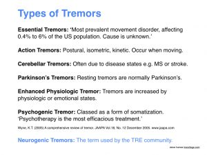 types of tremors